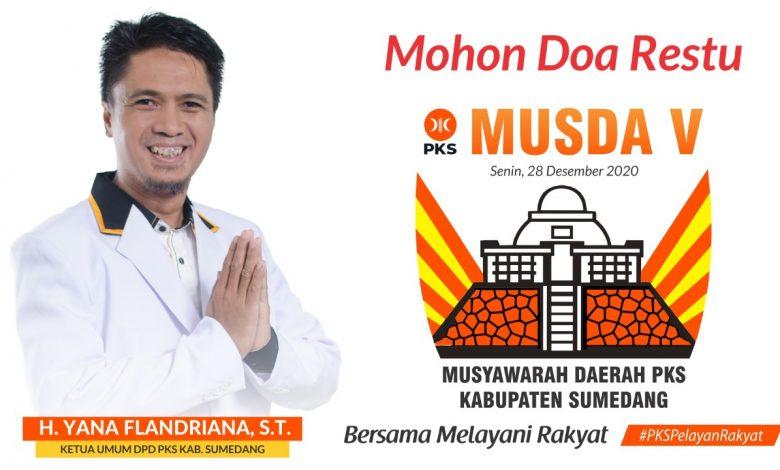 DPD PKS Kabupaten Sumedang akan menggelar Musda ke V pada 28 Desember 2020. (Foto: Humas PKS)