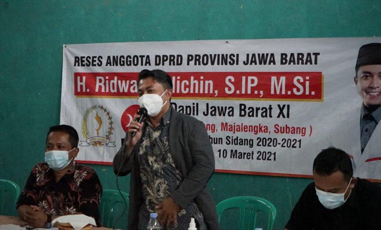 Anggota Komisi I DPRD Jawa Barat dari Fraksi PKS, H. Ridwan Solichin, S.IP., M.Si, dalam agenda Reses II Tahun Sidang 2020-2021, Kamis (4/3/2021). (Foto: Humas PKS)