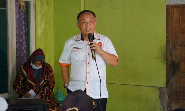 Anggota DPR RI dari Fraksi PKS, KH Nurhasan Zaidi dalam agenda Reses Masa Sidang III Tahun 2021-2022, di Desa Cibuluh Kecamatan Ujungjaya Kabupaten Sumedang Provinsi Jawa Barat, Sabtu (6/3/2021). (Foto: Humas PKS Sumedang)
