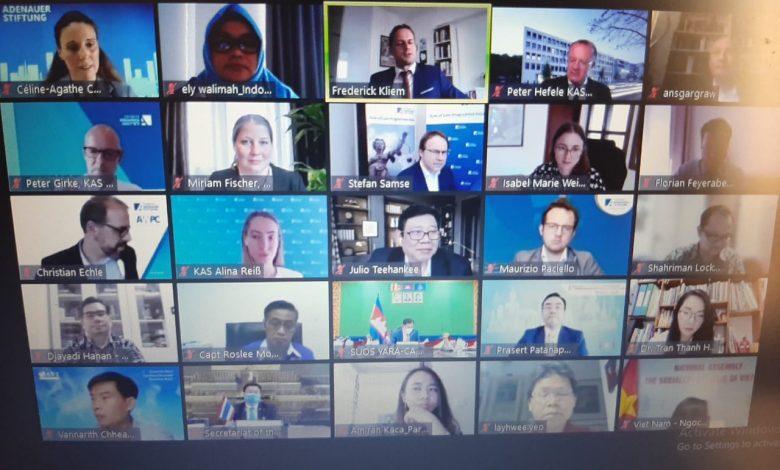 Ely Walimah saat mengikuti zoom meeting yang digelar Konrad Adenauer Stiftung (KAS), Jum'at (21/5)